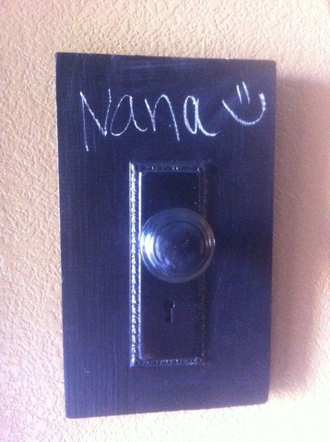 doorknob and chalkboard paint