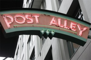 post alley sign